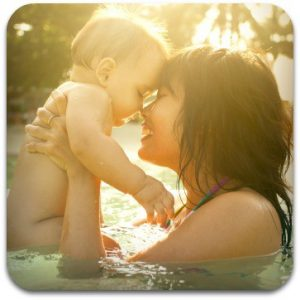 Baby Swimming Lessons with Mother