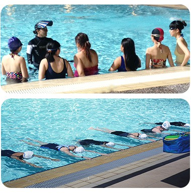lady swimming lessons