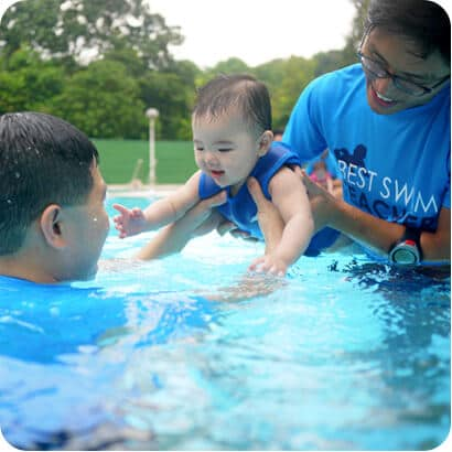 baby swimming lessons singapore happy fish