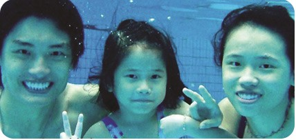 family swimming class