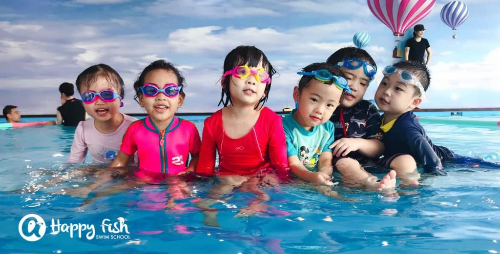Swimming lessons for kids singapore happy fish swim school for Happy fish swimming